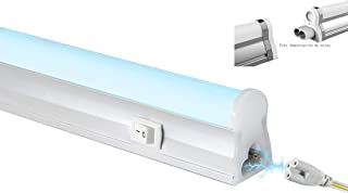 POPP®Regletas Tubo LED T5 Alumino+Pc Conexión Dos Laterales 5W,9W,12W,18W Blanco Frío 4000K 6000K fluorecente cocinas,armarios,trastero[Clase de eficiencia energética A] (4000K, 5 WATIOS)