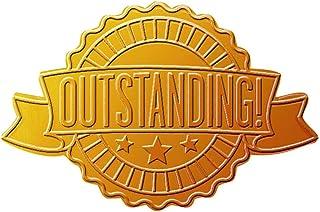 优质纸张! Starburst 丝带压花和金色箔证书印章,4.45 cm,48 支 Outstanding Ribbon