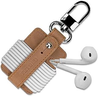 TETDED Premium Leather Earphone Holder002, Cord Organizer (Classic Vintage Brown)