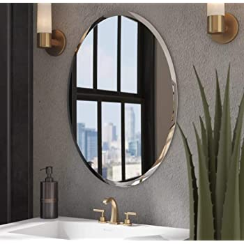 Buy Venetian Design Glass Frame Less Decorative Mirror For Wall Bathrooms In Home Decor 18 X 24 Inch Silver Online At Low Prices In India Amazon In