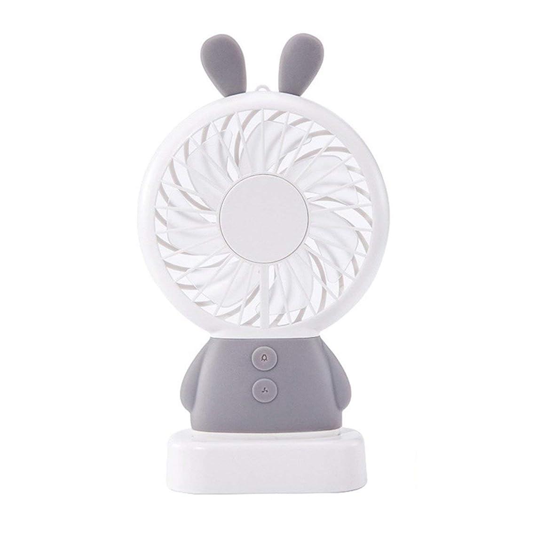 Beauty-inside Mini USB Fan Portable Hand Fan with LED Night Light Battery Operated USB Power Handheld Fan Cooler Electric Laptop Fan for Home,K-F1-Gray