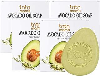tntnmom's Avocado oil soap bar for pregnant woman, Vitamin A, B, B1, B2, E, D, Natural soap bars,5% avocado oil and bamboo salt, Korean herbs, Korean moisturizer maternity skin care, 3.52oz(4 count)