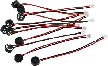 میکروفون کندانسور MIC Electret E-برجسته 10PCS 6027 میکروفون تشخیص گفتار از راه دور با حساسیت بالا با 2 سیم و ترمینال 1.25