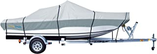 PrimeShield Boat Cover, Waterproof 600D Oxford Marine Grade Trailerable Runabout Boat Covers, Heavy Duty 14/15/16/17/18/19/20/21/22 ft fits V-Hull Tri-Hull Pro-Style Bass Boats with Tightening Strap