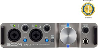 Zoom UAC-2 USB 3.0 SuperSpeed Audio Converter, 2-In/2-Out SuperSpeed USB 3.0 AudioInterface, Switchable +48V PhantomPower, Loopback Function, Two Balanced TRS Output Jacks