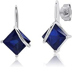 14k Gold Filled Earrings Blue Sapphire to Pink Sapphire Gradation Sapphire Teardrops Sapphire Earrings Extra Long Gemstone Earrings