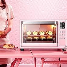 HIGHKAS Mini Horno, Smart Oven Grill, Mini Oven con Parrilla Placa, Mini Oven eléctrico con Temporizador, Horno automático electrónico multifunción Rosa