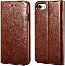 iPhone 7, 8, SE 2nd Wallet Case, ICARERCASE Premium Leather Case with Magneitc, Kickstand and 3 Credit Slots for Apple iPhone 7/8/SE 2020 4.7 Inch (Brown)