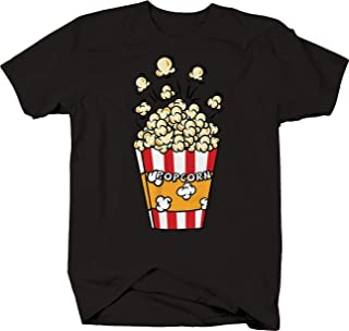 Janix Movie Theater Buttered Popcorn Bag Red and White Striped Tshirt