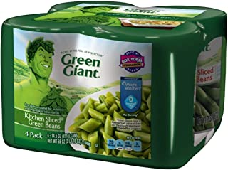 Green Giant Kitchen Sliced Green Beans, 4 Pack of 14.5 Ounce Cans
