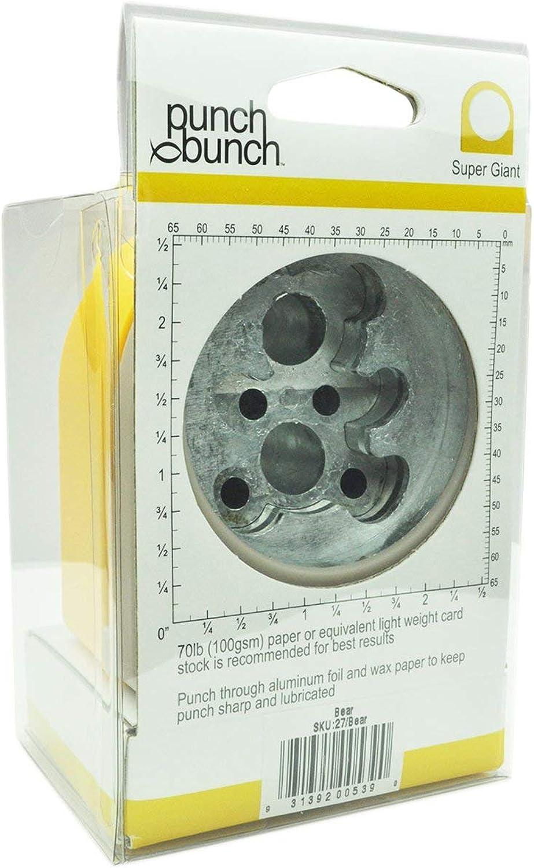 Punch Bunch Super Giant Punch Approx. 2.375 2.375 2.375  -Bear B00XKU1HRC | Qualität Produkt  209b4e