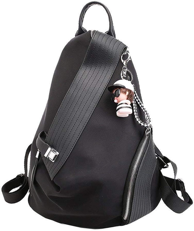 ZY-AHJAMA Damenrucksack, verschleißfest wasserdicht, schwarzer Oxford-Rucksack 30  17  35cm B07P8H8KWX  Vollständige Spezifikation