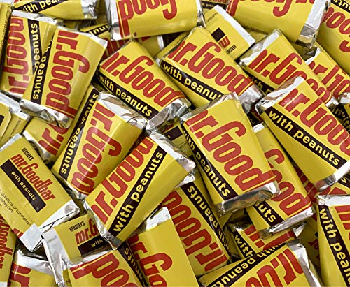 Sunny Island Hershey's Mr. Goodbar Miniatures Candy, Milk Chocolate Peanuts Bar Bulk - 3 Pound Bag