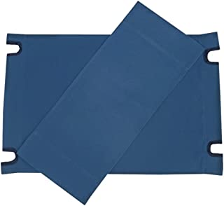 Zew Replacement UV Treated Color Durable Canvas for Bamboo Folding Directors Chairs, Royal Navy