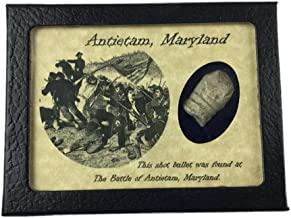 Southern Star Displays Civil War Bullet from The Battle of Antietam, Maryland with Display Case and COA