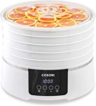 COSORI Food Dehydrator Machine(50 Recipes) with Digital Timer and Temperature Control, 5 BPA-Free Trays Food Dryer for Beef Jerky,Fruit,Dog Treats,Herbs,2-Year Warranty,ETL Listed/FDA Compliant