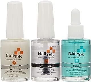 NailTek Nail Recovery Kit, Cuticle Oil, Strengthener, Ridge Filler - restore damaged nails in 3 steps