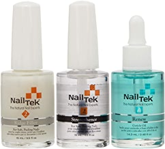 Nail Tek New Restore Damaged Nails Kit, Intensive Therapy II 0.5 fl oz, Foundation II 0.5 fl oz and Renew 0.5 fl oz