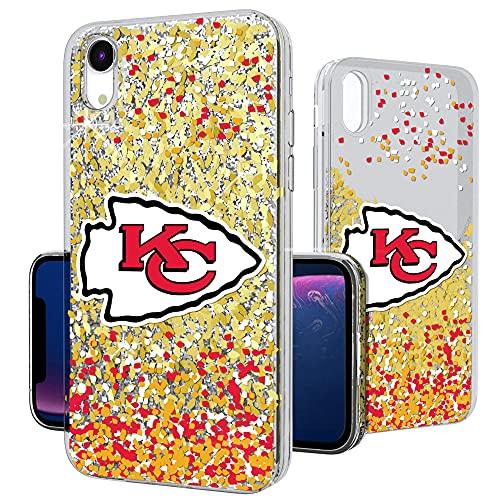 Strategic Printing Kansas City Chiefs iPhone Glitter Case with Confetti Design