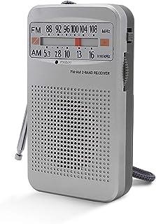 Horologe AM FM Radio, Portable Pocket Transistor Radio – Battery Powered, 3.5mm Earphone Jack, Easy to Operate, Long Lasti...
