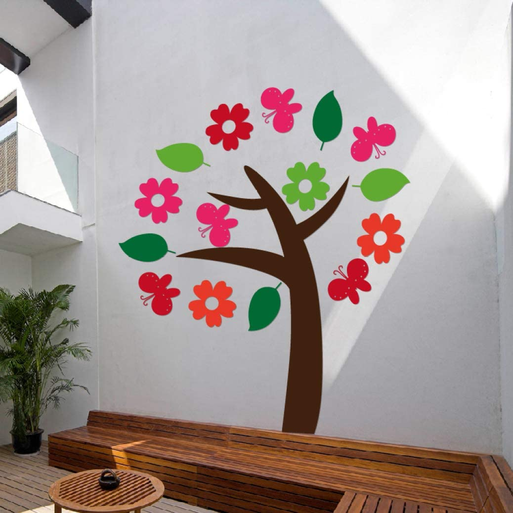 LUCACO Miami Mall Acrylic 3D Wall Stickers Room Decoration TV Industry No. 1 for Kids