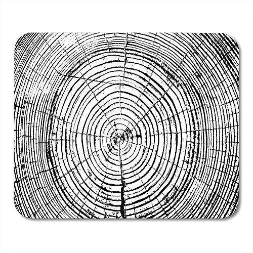 Muiskussentjes Patroon Houten Boom Ringen Zaag Gesneden Trunk Stump Timber Mouse Pad Voor Notebooks Desktop Computers Matten Kantoorbenodigdheden