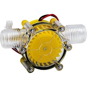 SAVEMORE4U18 10W Water Turbine Generator Micro Hydroelectric DIY LED Power DC 12V Water Flow Generator Micro-Hydro Water Charging Tool Black
