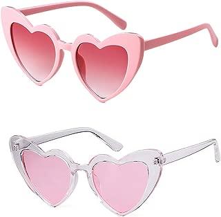 Retro Vintage Clout Goggle Heart Sunglasses Cat Eye Mod Style for Women Kurt Cobain Glasses Plastic Frame Mirrored Lens