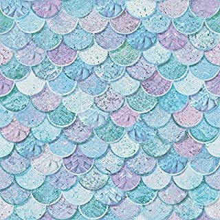Arthouse Mermazing Scales Wallpaper, Blue