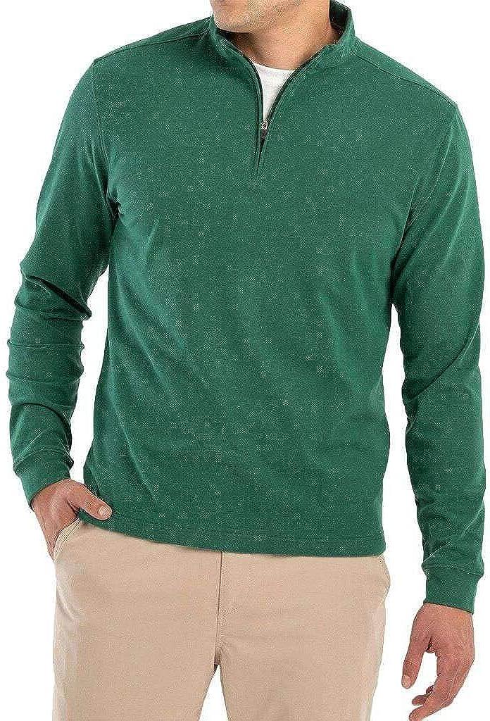 johnnie-O Brady Microfleece 1/4 Zip Pullover Green