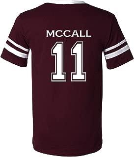 Adult McCall 11 Beacon Hills Lacrosse V-Neck T-Shirt