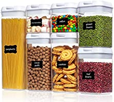 Airtight Food Storage Containers,Vtopmart 7 Pieces BPA Free Plastic Cereal Containers with Easy Lock Lids,for Kitchen...