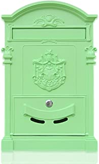 CBDGD European Style Mailbox Villa Outdoor Retro Wall Hanging City Mailbox Country Mailbox Wall-Mount Letterboxes