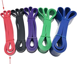 Yowanted Fitness Equipment Natural Latex Athletic Rubber Resistance Bands for Assistance Resistance Exercise Stretch, Power Lifting Pull Up Strengthen Muscles