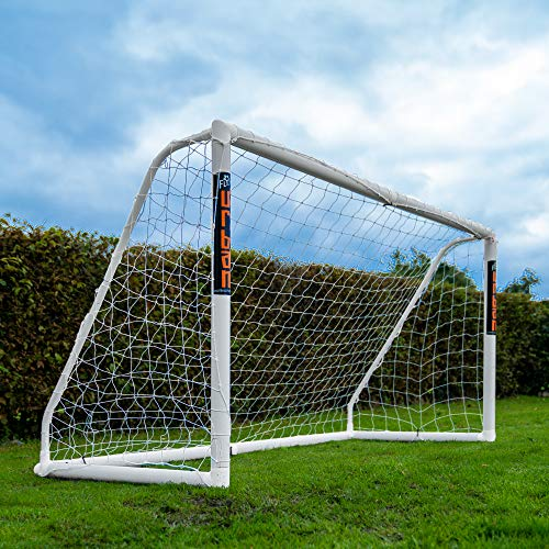 Football Flick Unisex-Youth Urban Goal-8x4 Football Goal, White, 8x4