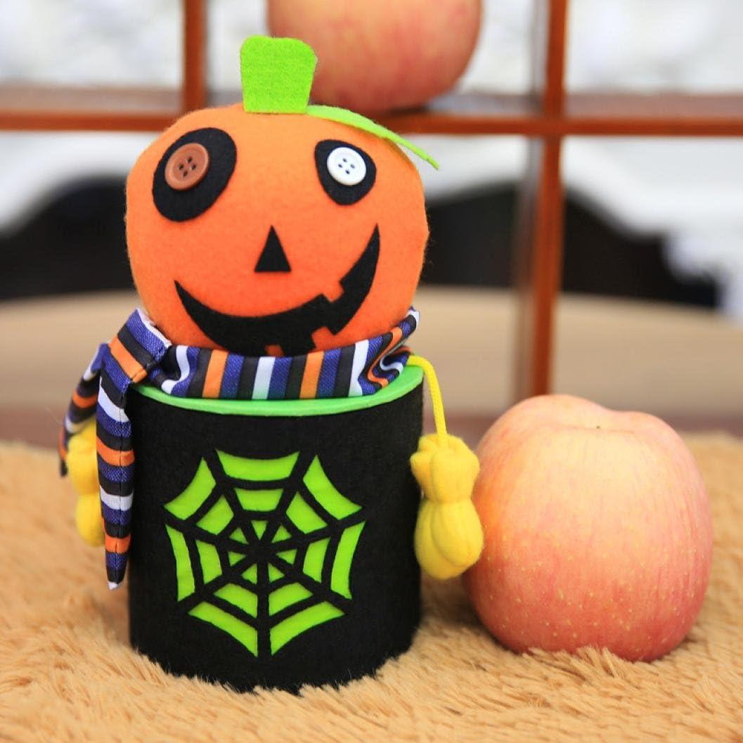 iLH Halloween Candy Jar ZYooh Novelty Puppet National uniform free shipping Rare Can Decor Box