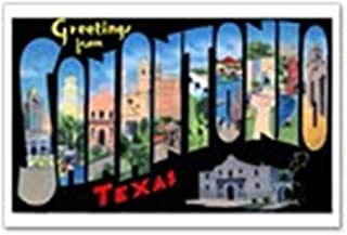 CafePress San Antonio Texas Greetings Postcards (Package Of Postcards (Package of 8), 6