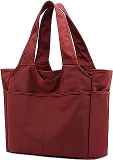 Wxnow Women Waterproof Tote Bag Nylon Handbag Purse Shoulder Shopping Bag