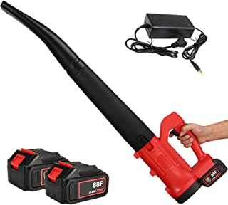 BKWJ Souffleur de Feuilles à Batterie, souffleur de Feuilles sans Fil 20 V avec 2 Batteries et Chargeur, balayeuse à Main ...
