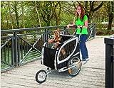 TEFLON® Hundefahrradanhänger Fahrrad Anhänger Fahrradanhänger Große Hunde Buggy Hundebuggy XL Bis 50 KG - 7