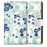 DeinDesign Sony Xperia Z3 Plus Étui Étui Folio Étui magnétique Blueberry