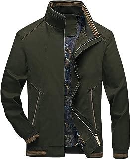 LENXH Men's Jacket Autumn and Winter Tops Casual Solid Color Jacket Simple Jacket Fashion Top Zipper Jacket