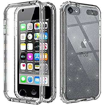 Cyberowl iPod Touch 7th Generation Case with Build in Screen Protector Heavy Duty Full Body Rugged Slim Fit Shockproof Cover for Apple iPod Touch 5/6/7th Generation  GW09 Glitter Clear
