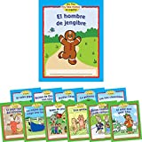 """72 softcover books (6 each of 12 titles) Size: 4¼"""" by 5⅜"""" 12 pages each Titles: Set 1 El hombre de jengibre (The Gingerbread Man) Ricitos de Oro y los tres osos (Goldilocks and the Three Bears) Los tres chanchitos (The Three Little Pigs) La gallinit..."""