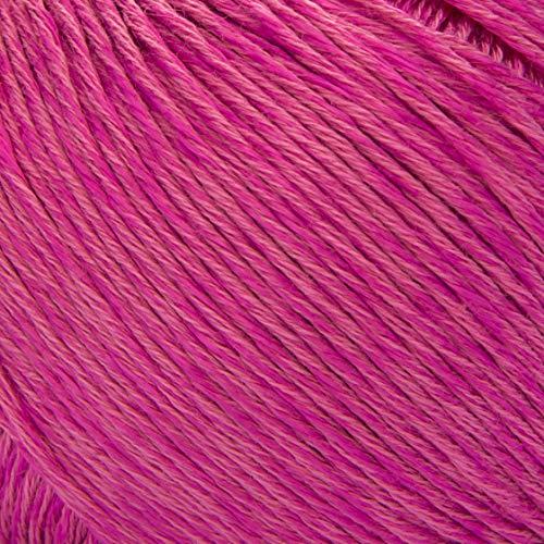 ggh Mystik | Baumwolle und Viskose Mischung mit Glanzeffekt | 50g Wolle zum Stricken oder Häkeln | Farbe 121 - Walderdbeere