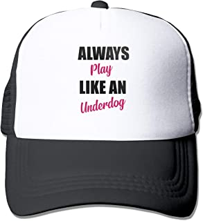 Always Play Like an Underdog Mesh Baseball Cap Unisex Style Hats Black