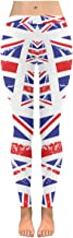 InterestPrint Graphic Retro UK Flag Pattern Print Low Rise Ladies Outdoor Leggings(XXS-5XL)