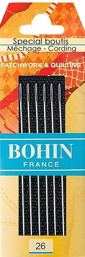 Bohin Needle Big Eye Round Tip 6ct