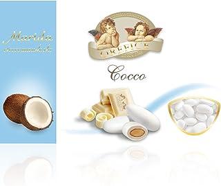 Coconut White Wedding Sugared Almonds - Gluten Free - 500g (90 Units)