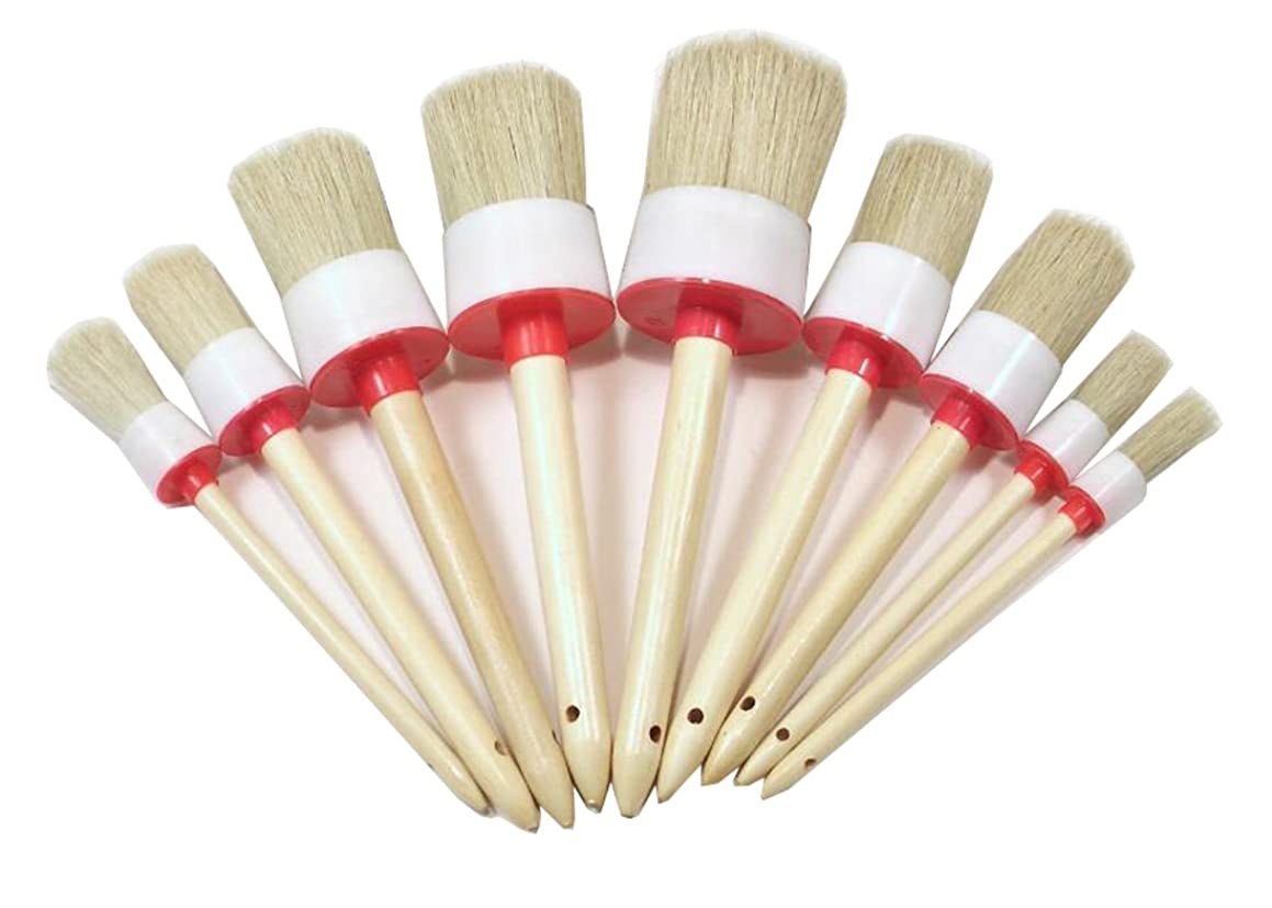 2PCS Round Head bristles Paint Car Wash Wax Brushes Brush For Painting Coating Cleaning Chalk (1.57